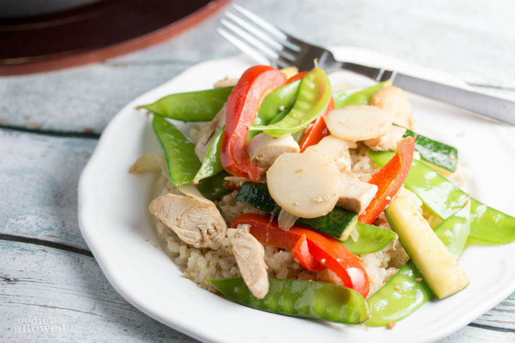 healthy chicken stir fry- No Diets Allowed