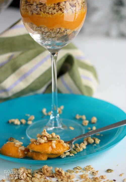 Pumpkin Parfait- No Diets Allowed