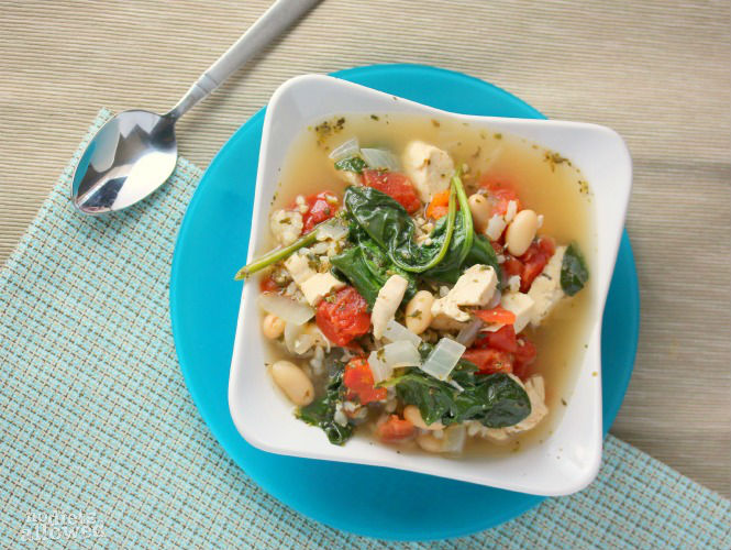 Chicken and white bean soup- No Diets Allowed