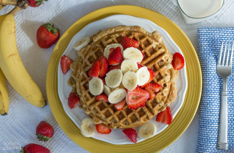 banana waffle- No Diets Allowed