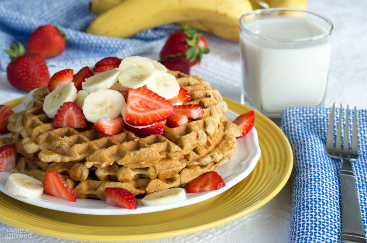 banana waffles recipe- No Diets Allowed