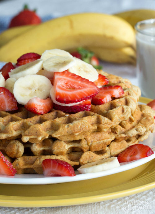 vegan banana waffles- No Diets Allowed