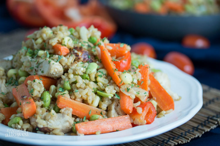 chicken fried rice healthy - No Diets Allowed