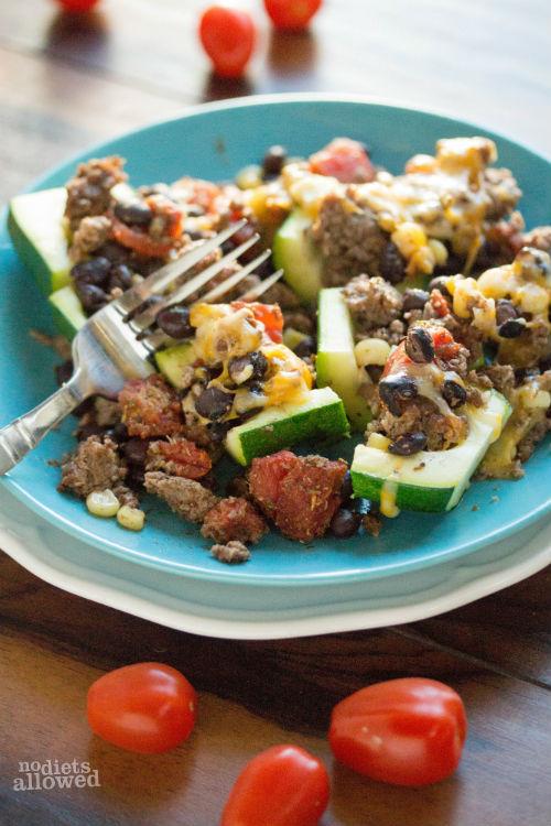 recipe for stuffed zucchini - No Diets Allowed