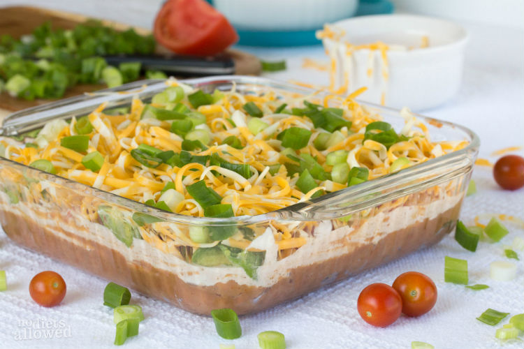7 layer dip - No Diets Allowed
