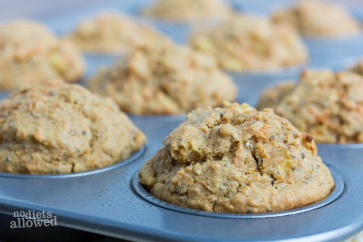 morning glory muffins recipe - No Diets Allowed