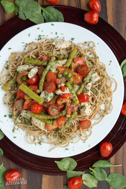 pasta primavera sauce - No Diets Allowed