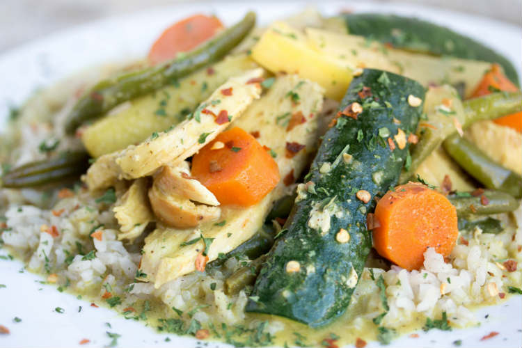 yellow chicken curry - No Diets Allowed