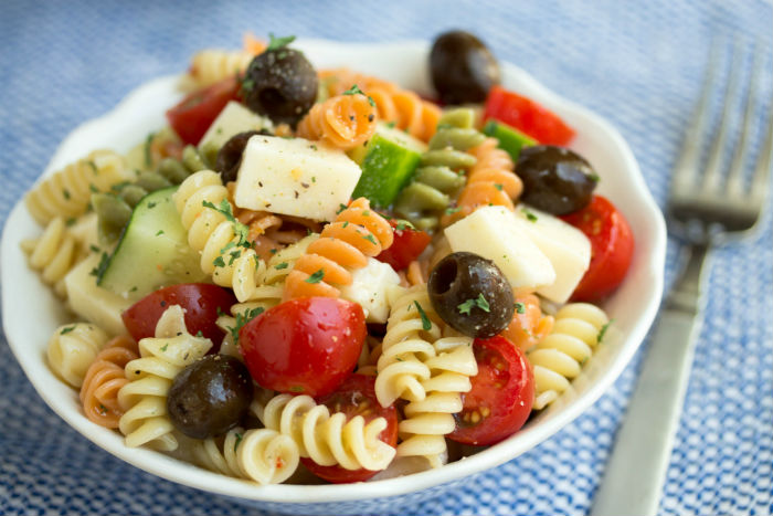 pasta salad with italian dressing - No Diets Allowed