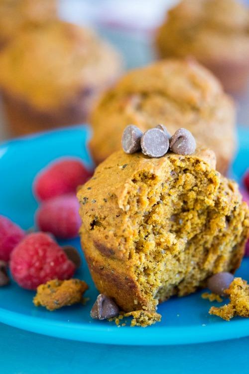 Banana Chocolate Pumpkin Muffins - No Diets Allowed