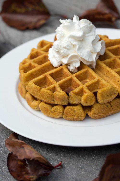 Pumpkin Spice Waffles Mix Recipe - No Diets Allowed #Food #Foodie #Waffles