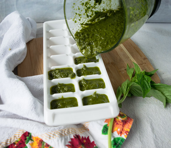 Basil Pesto Sauce Recipe - No Diets Allowed #Food #Foodie