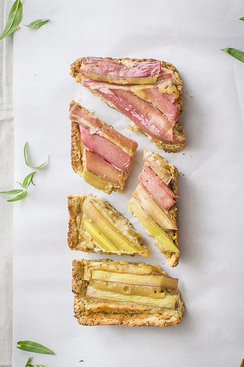 Rhubarb Tart Recipe - No Diets Allowed #Food #Foodie #Rhubarb