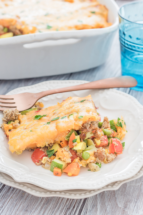 Sweet Potato Shepherds Pie Recipe - No Diets Allowed #Food #Foodie #ShepherdsPie