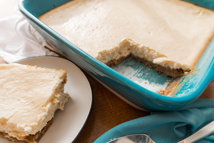 Eggnog Cheesecake Bars Recipe - No Diets Allowed #Food #Foodie #Yummy