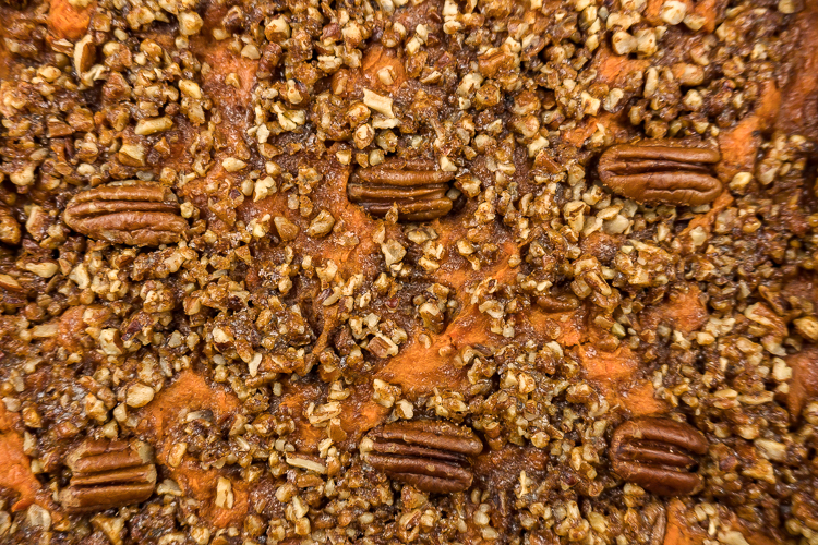 Easy Simple Healthy Sweet Potato Casserole Recipe - No Diets Allowed #Food #Foodie
