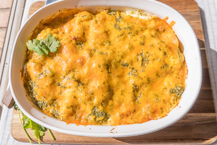 Leftover Turkey Enchilada Casserole Recipe - No Diets Allowed #Food #Foodie #Turkey