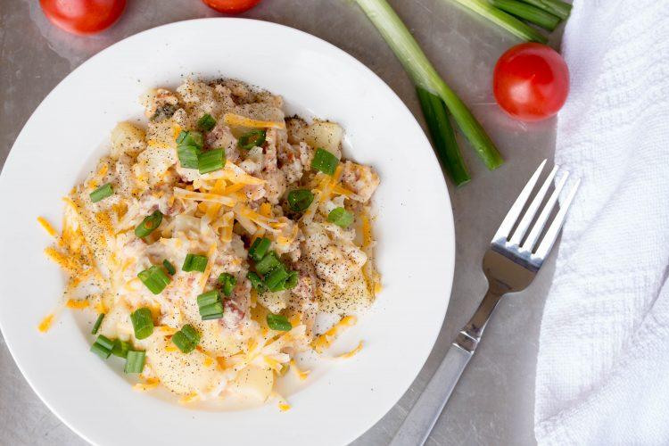 Easy Cheesy Potato Casserole Recipe from No Diets Allowed