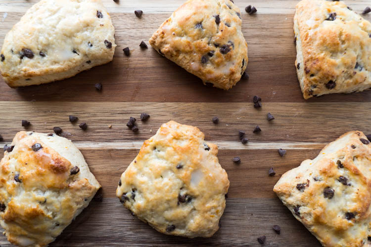 Orange and chocolate chip scone receipe from no diets allowed