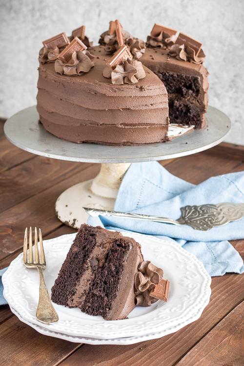 best moist chocolate cake recipe from NoDietsAllowed.com