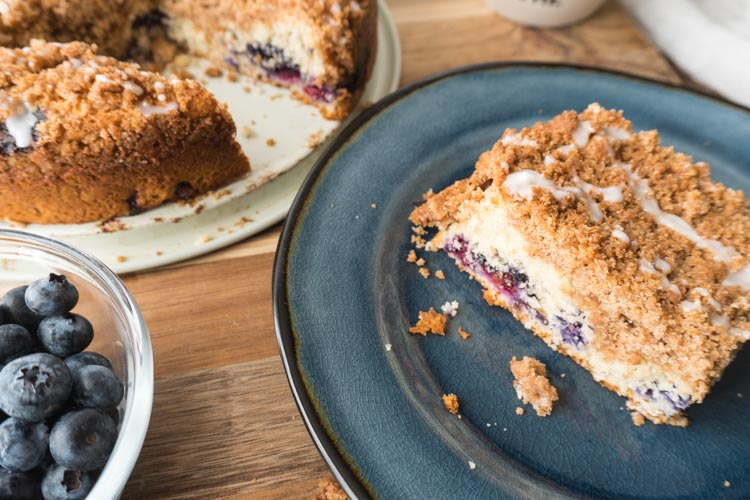 blueberry crumb coffee cake - no diets allowed