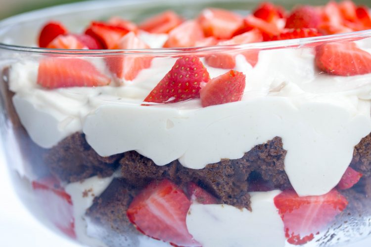 Gingerbread Trifle Recipe with strawberries from No Diets Allowed