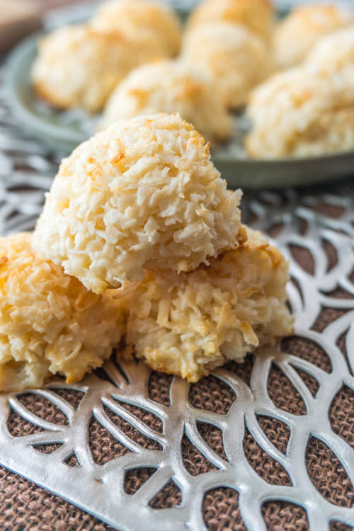 These gluten free coconut macaroons are deliciously sweet and so easy to make! You will wonder why you didn't make them sooner from no diets allowed