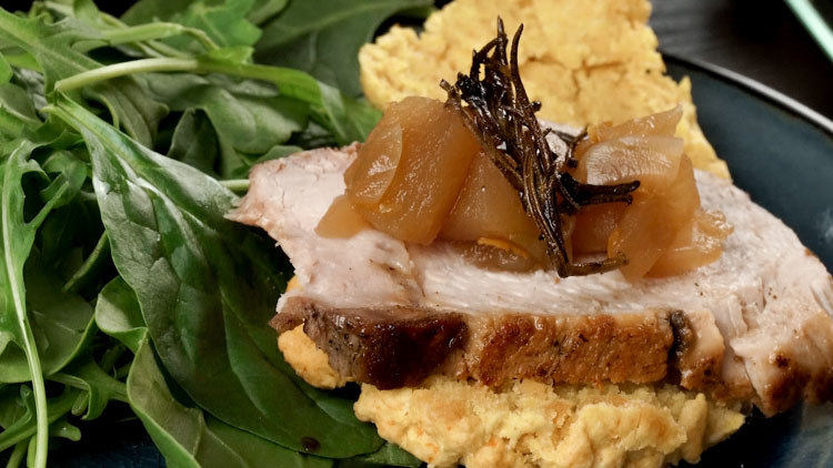 sweet-potato-biscuit-with-pork-tenderloin-and-apple-chutney-no-diets-allowed