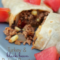 Turkey and Black Bean Baked Burritos