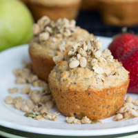 Pear Apple Granola Muffins