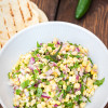 Corn and collard greens salsa