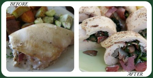 Stuffed Chicken Collage- No Diets Allowed