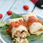 baked chicken burrito recipe- No Diets Allowed