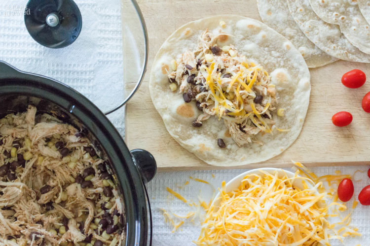 Mexican Baked Chicken Burrito Recipe - No Diets Allowed #Food #Foodie #Burritos