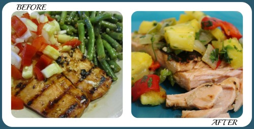 Salmon with S&S collage- No Diets Allowed