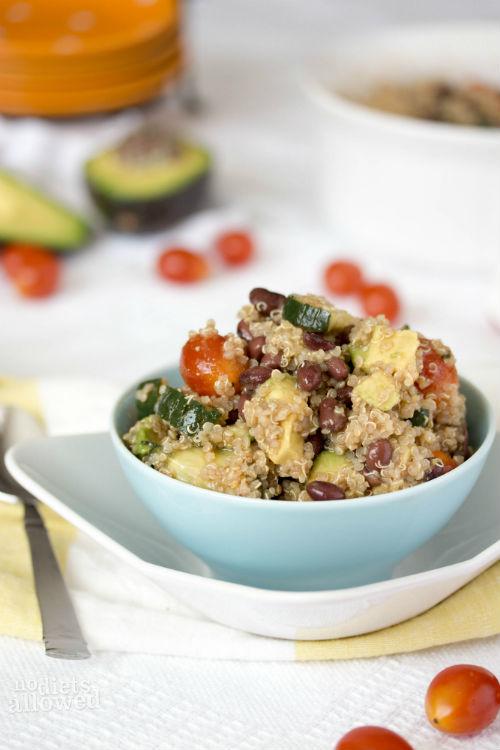 black bean quinoa salad- No Diets Allowed