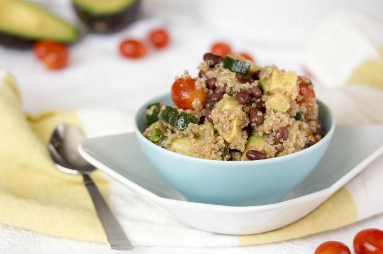recipes for quinoa salad- No Diets Allowed