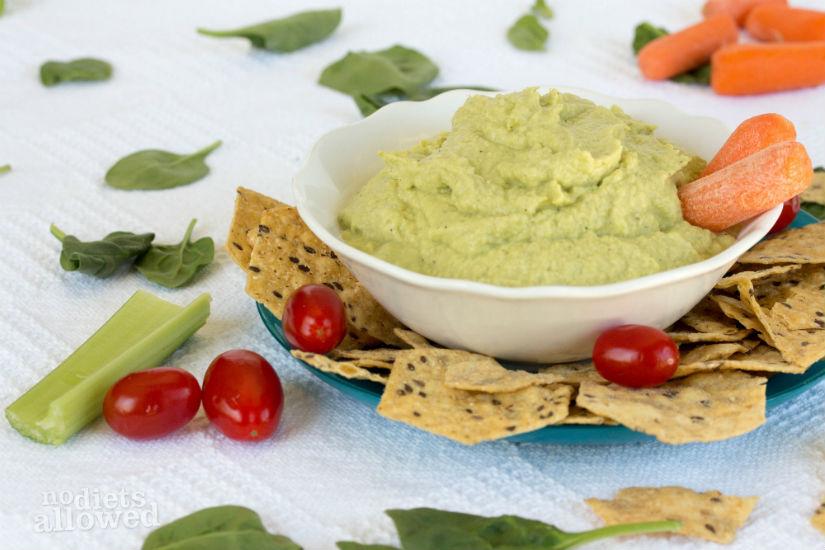 Edamame Hummus Recipe - No Diets Allowed