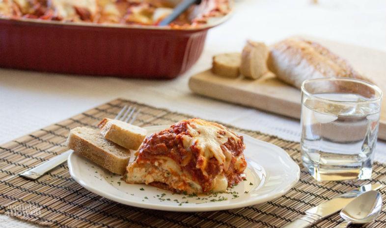 ground turkey lasagna recipe- No Diets Allowed