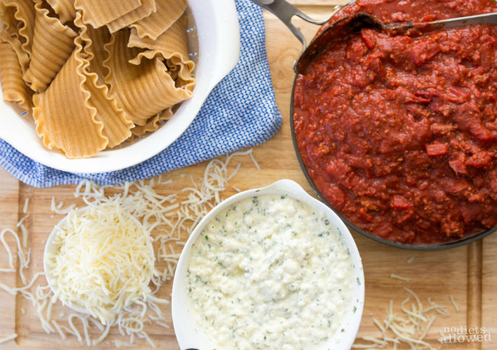 how to make simple lasagna with cottage cheese