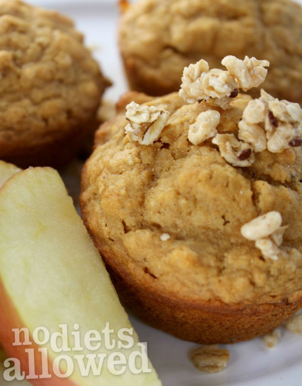 Pear Apple Granola Muffins- No Diets Allowed