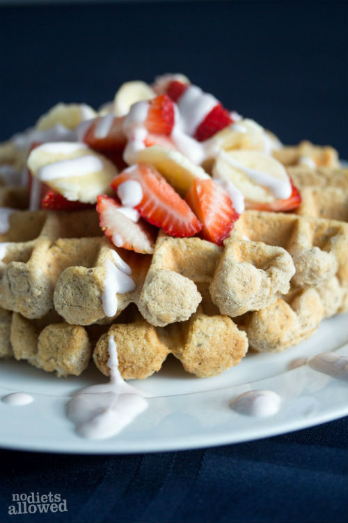 gluten free waffles - No Diets Allowed