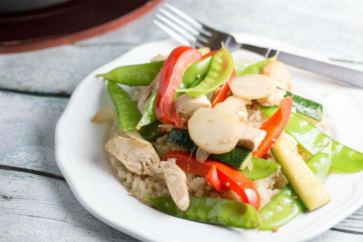 healthy chicken stir fry- No Diets Allowed