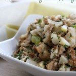 Apple Sausage Stuffing- No Diets Allowed