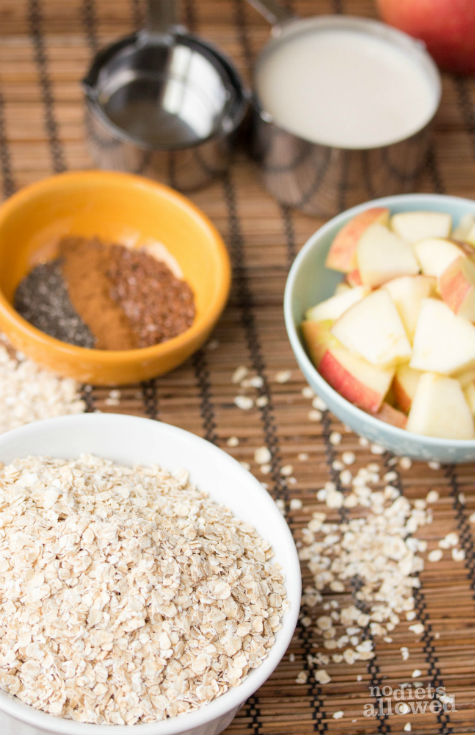 Creamy Apple Oatmeal Recipe- No Diets Allowed