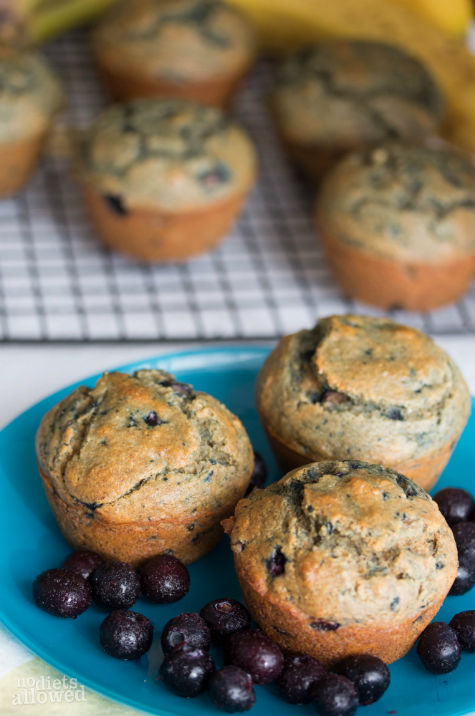 banana blueberry muffin- No Diets Allowed