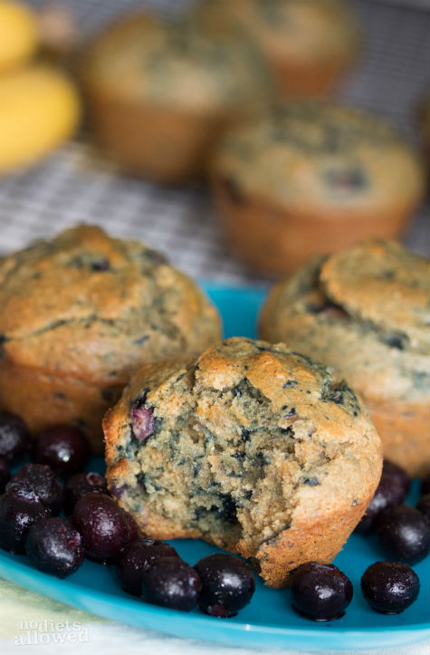 blueberry banana muffins- No Diets Allowed
