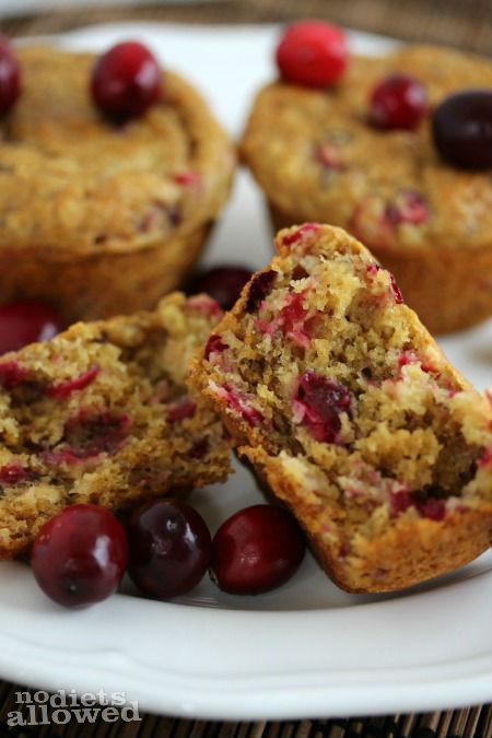 fresh cranberry orange muffins- No Diets Allowed