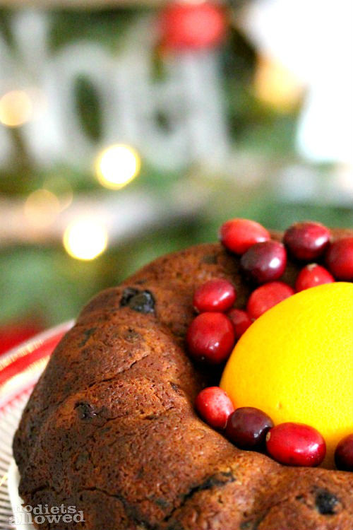 fresh fruit cake- No Diets Allowed