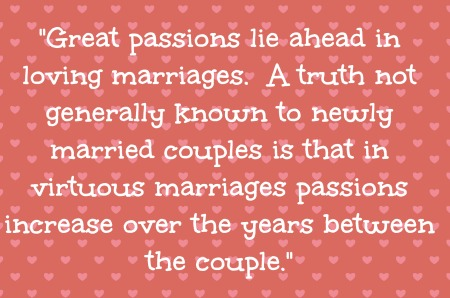 Passion in marriage- No Diets Allowed